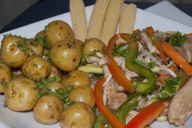 Chicken and vegetables in Venezuela I