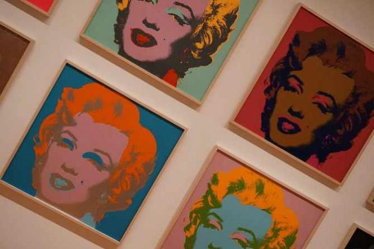 Andy Warhol Marilyn Monroe's at MoMA, New York
