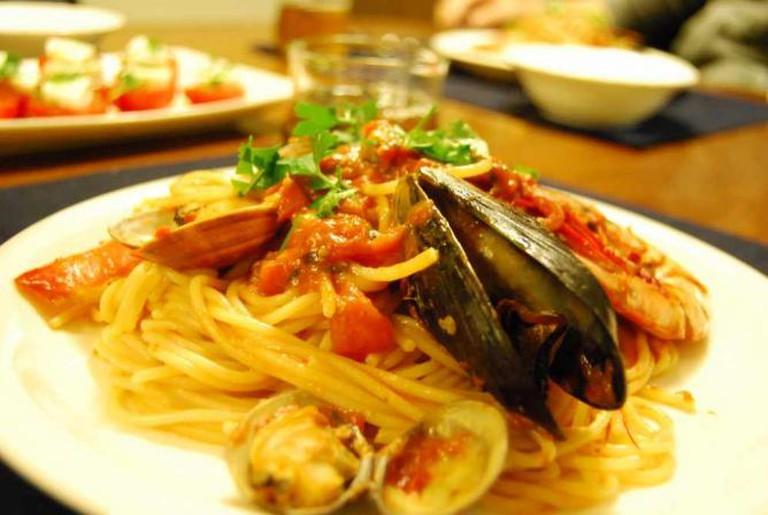 Spaghetti Alla Pescatore | © Miyo Sekimoto/Flickr