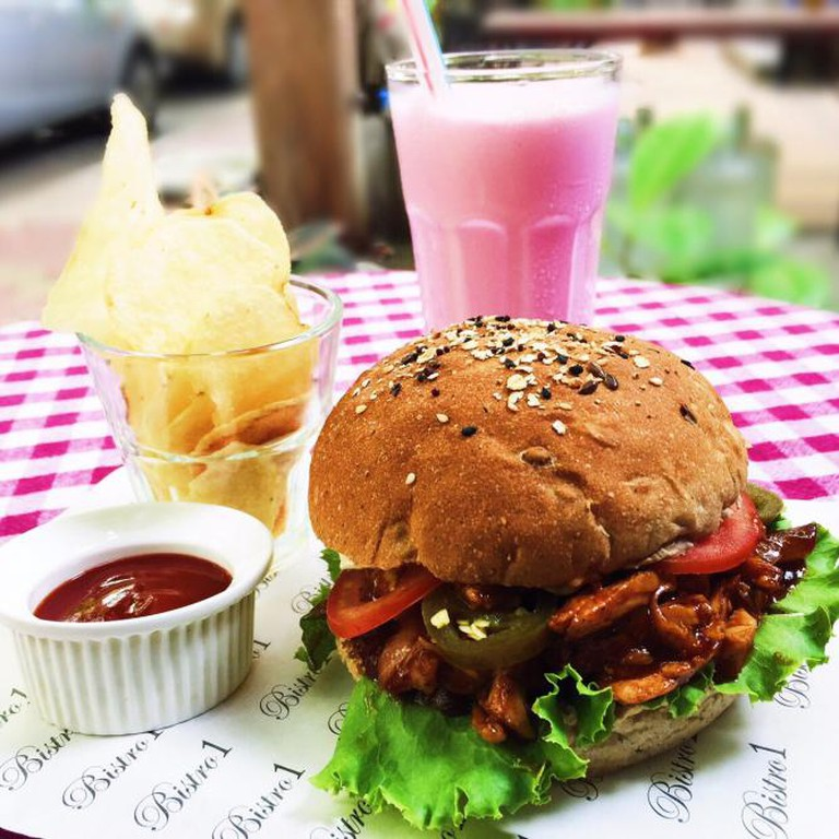 Barbeque Chicken Burger from Bistro1 Snackbar | Courtesy of Munchy Mumbai