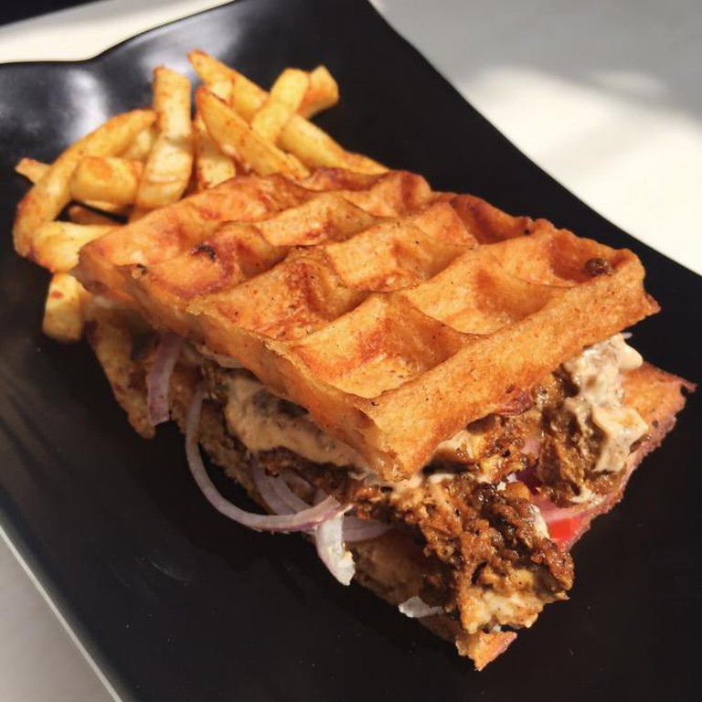 Chicken waffle from Frisbees | Courtesy of Munchy Mumbai