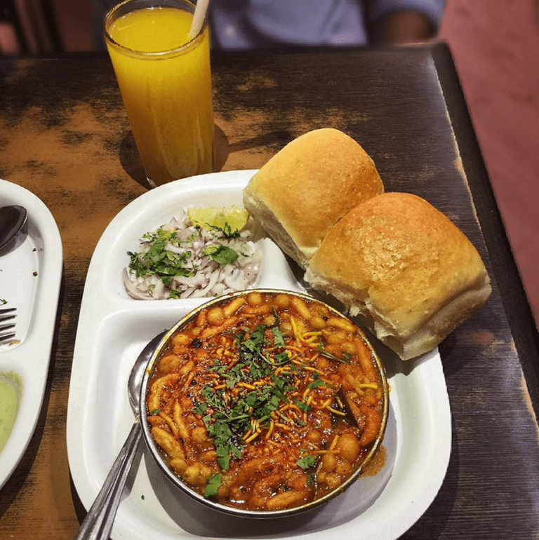 Misal Pav from Ladu Samrat | Courtesy of Munchy Mumbai