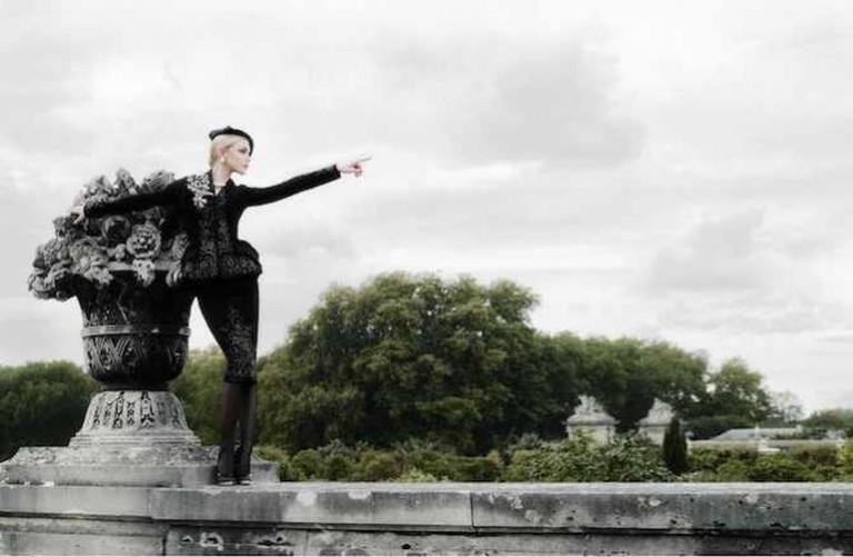Karl Lagerfeld, Jessica Stam Harper's Bazaar États Unis, 2007, Impression acrylique sur aluminium