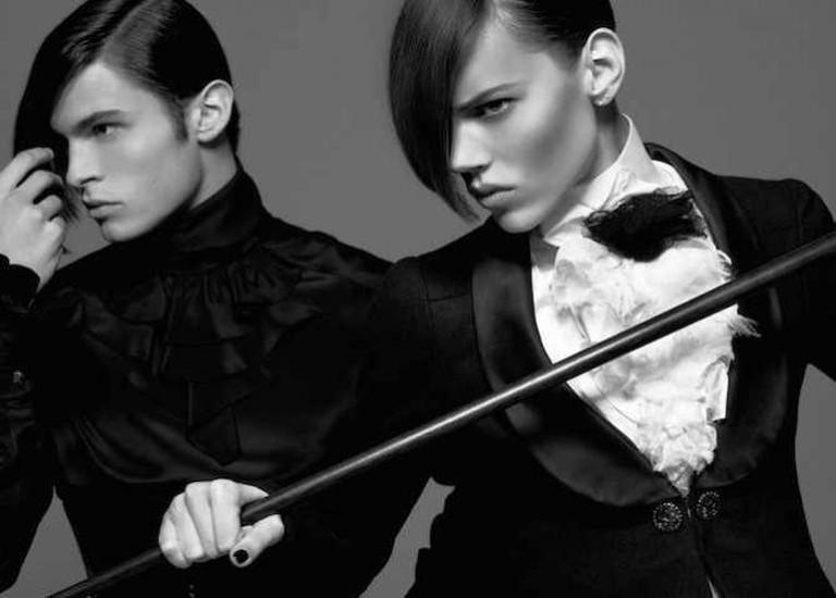 Karl Lagerfeld, Monokel Diele Vogue, Allemagne 2009 Impression acrylique sur aluminium