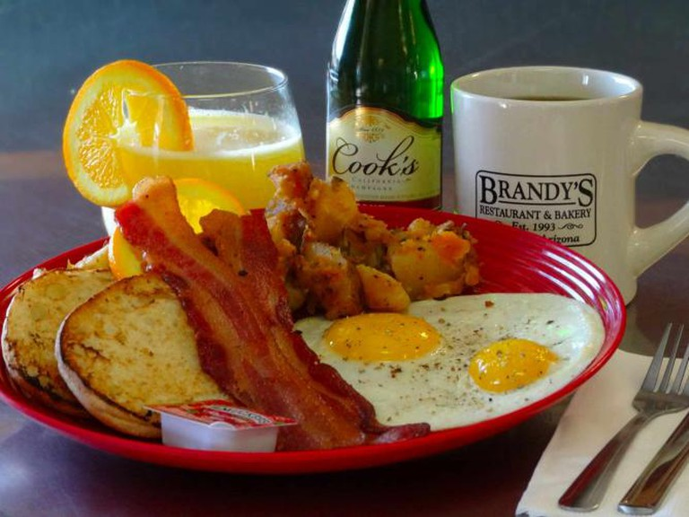 A sourced image: Bacon and Eggs at Brandy's