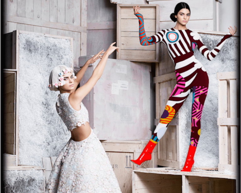 Karl Lagerfeld, Kendall Jenner Harper's Bazaar, États-Unis 2015 Impression acrylique sur aluminium