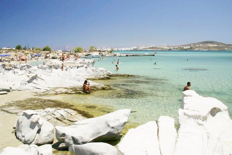The beach of Kolymbithres