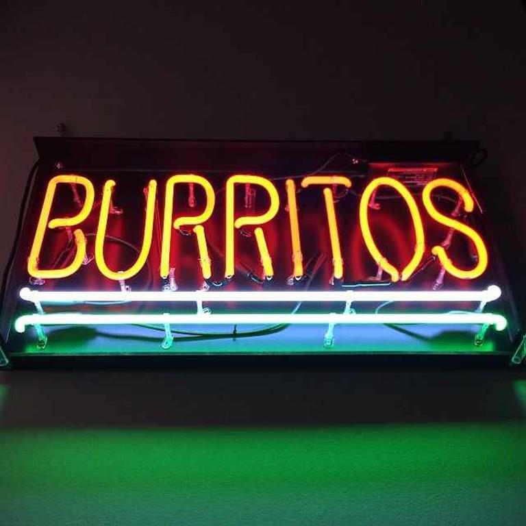 Neon BURRITOS sign © jm 3 on Flickr/ flickr