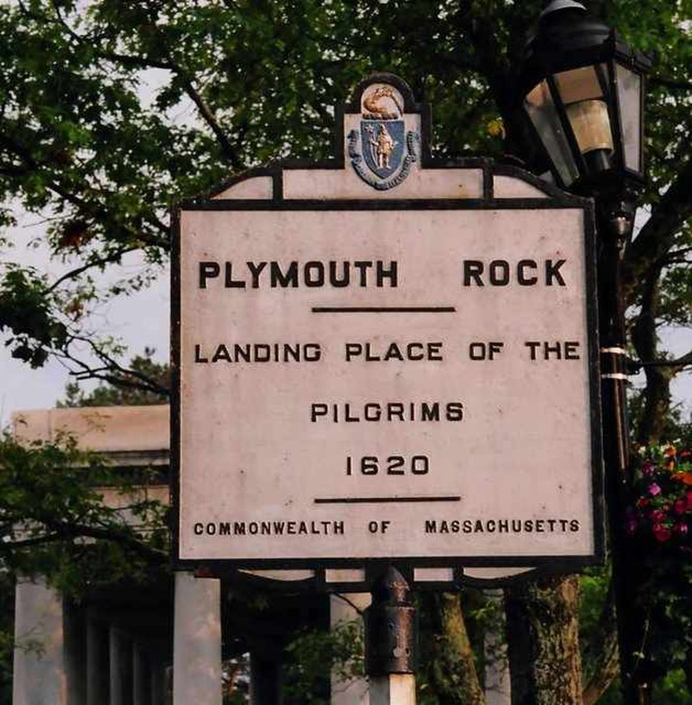 Bill Ilott © Plymouth Rock Sign /flickr