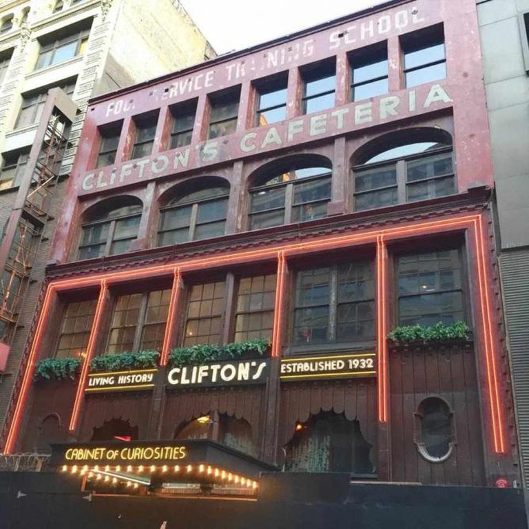 Clifton's Cafeteria façade | © Lisa Donohoe & Brynn Gelbard