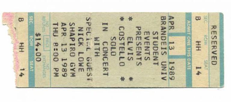 Elvis Costello plays at Brandeis