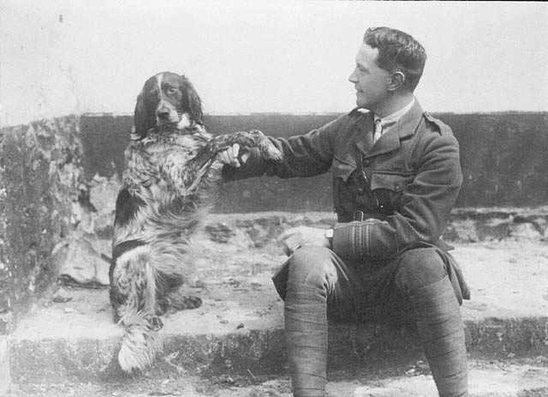 Lt.-Col. John McCrae and his dog Bonneau