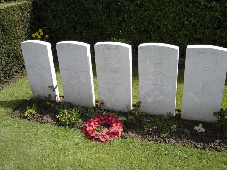Wilfred Owen's grave in Ors Communal Cemetery