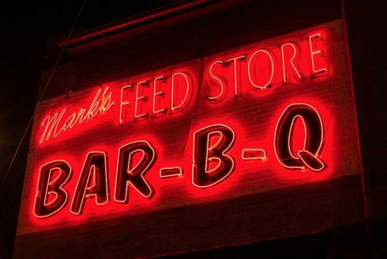 Mark's Feed Store Neon Sign