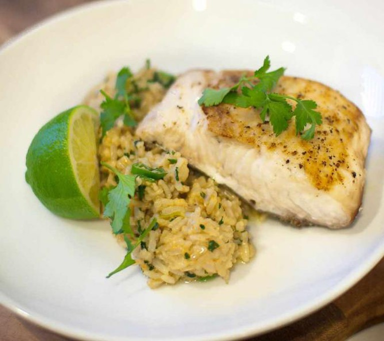 Coconut Ginger Fried Rice with Seared Mahi Mahi | © Bobbi Bower/Flickr