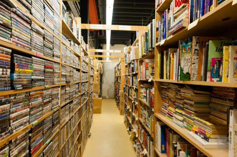 The shelves at Chamblin's Uptown