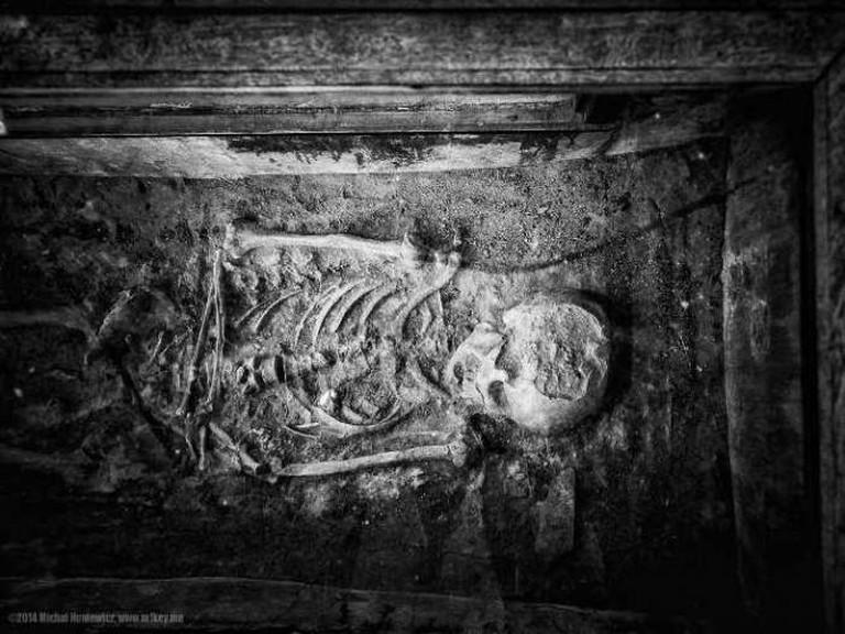 Skeleton in Fort Jesus, Mombasa