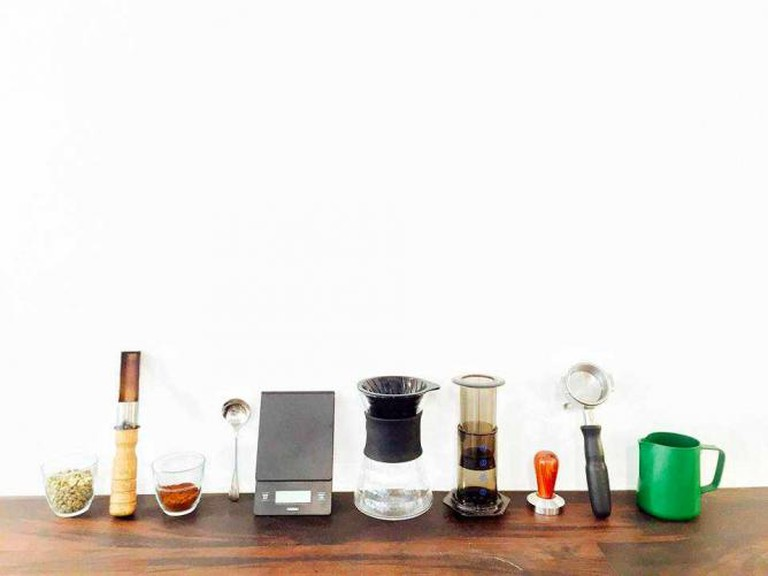 Just some of the tools Jordi likes to work with | Courtesy of Nømad Coffee