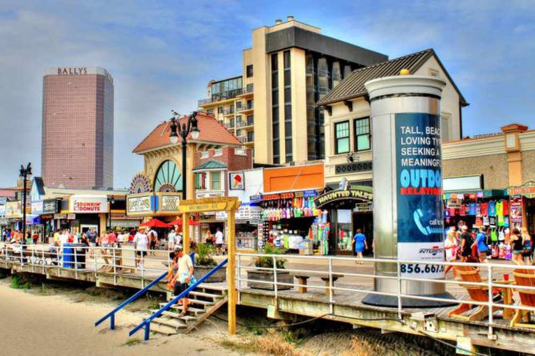 Shopping and strolling on the boardwalk is a popular pastime for Atlantic City.