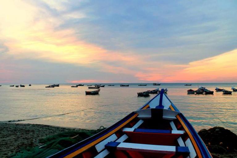 Boats off Manzanillo Beach, La Isla Margarita