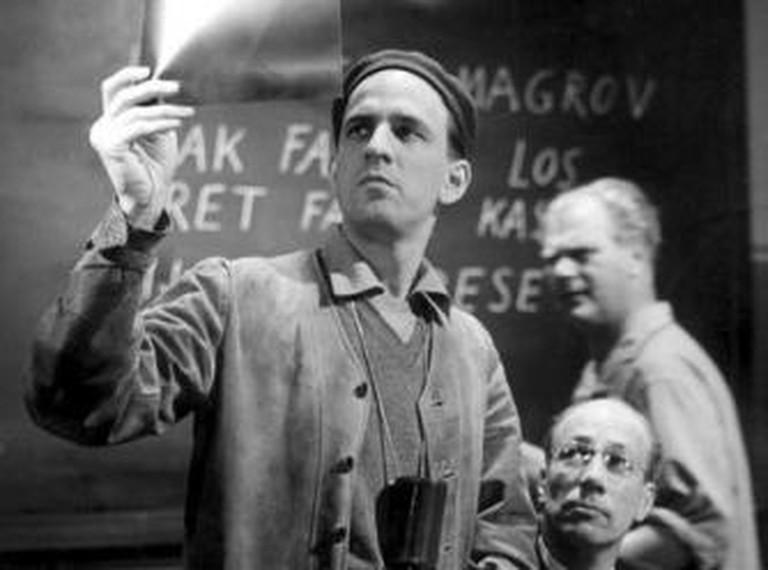 Ingmar Bergman during production of Wild Strawberries