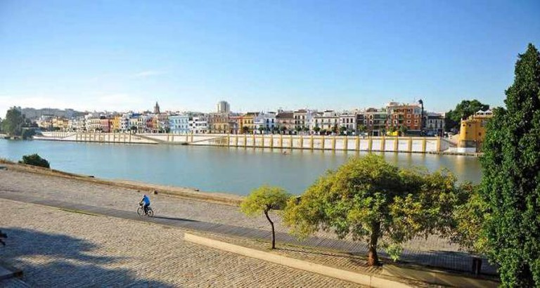 Cycling through Triana, Seville