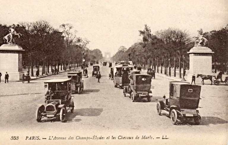The Avenue of Champs-Elysees