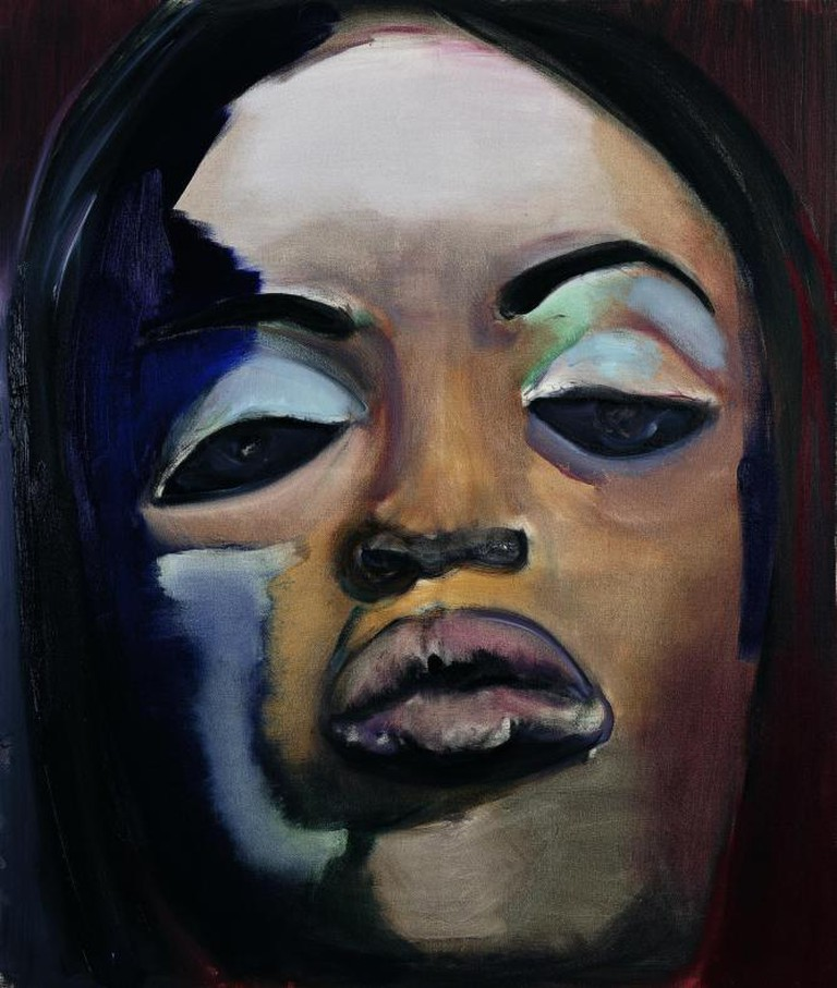 Caption: Marlene Dumas, Naomi, 1995, oil on canvas, 130 x 110 cm, De Heus-Zomer Collection | Photo Peter Cox, Courtesy Stedelijk Museum, Amsterdam, and Marlene Dumas.