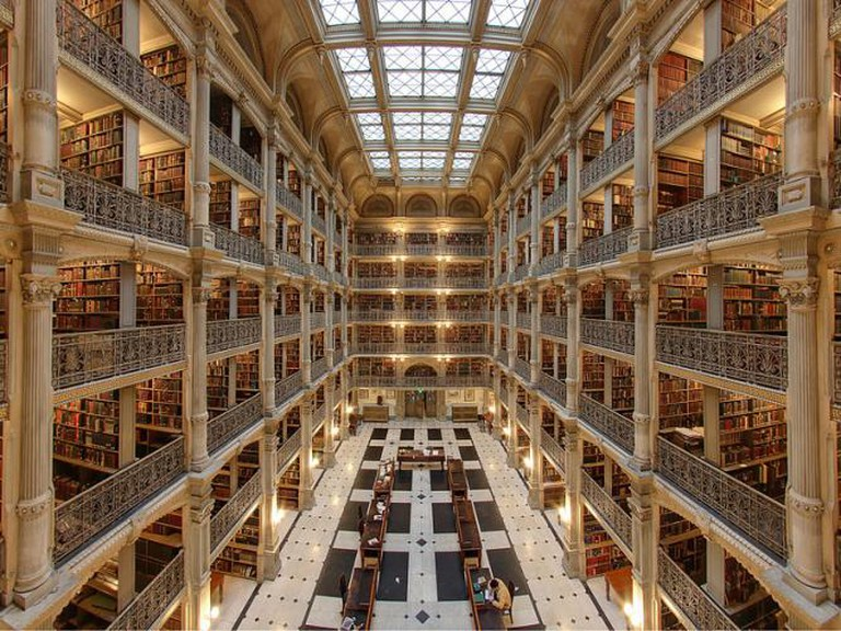 Interior of the George Peabody Library