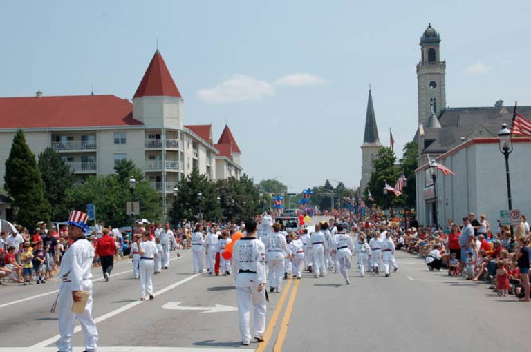 Independence Day parade in downtown Waukesha, WI