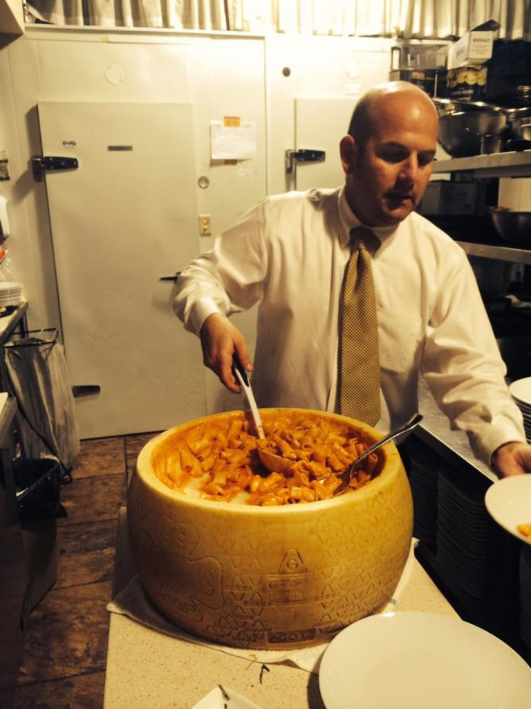24 month old Gran Padano cheese wheel I © Antica Osteria Italian Ristorante