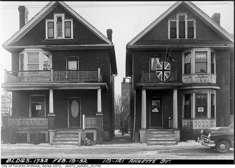 119-121 Annette Street | © Toronto History/Flickr