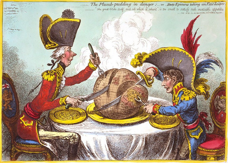 James Gillray's The Plumb-pudding in danger, 1805 | © Eubuildes/Wikicommons