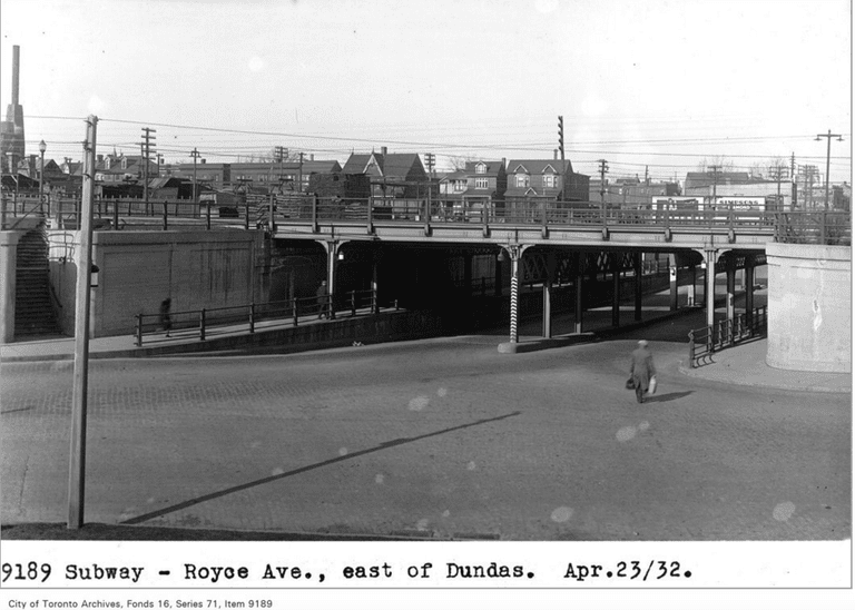 Subway - Royce Ave, east of Dundas | Public Domain/City of Toronto Archives