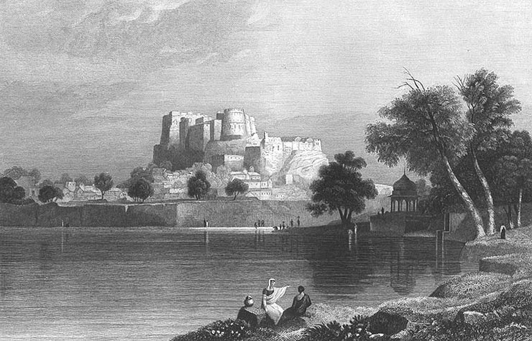 Amber Fort, 1858/©W. Purser/WikiCommons