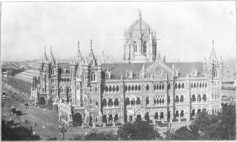 Victoria Station in Bombay, 1850-1911/©William Eleroy Curtis/WikiCommons