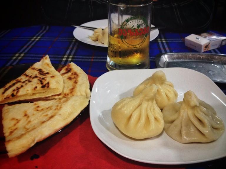 Georgian food in Akhaltsikhe Georgia