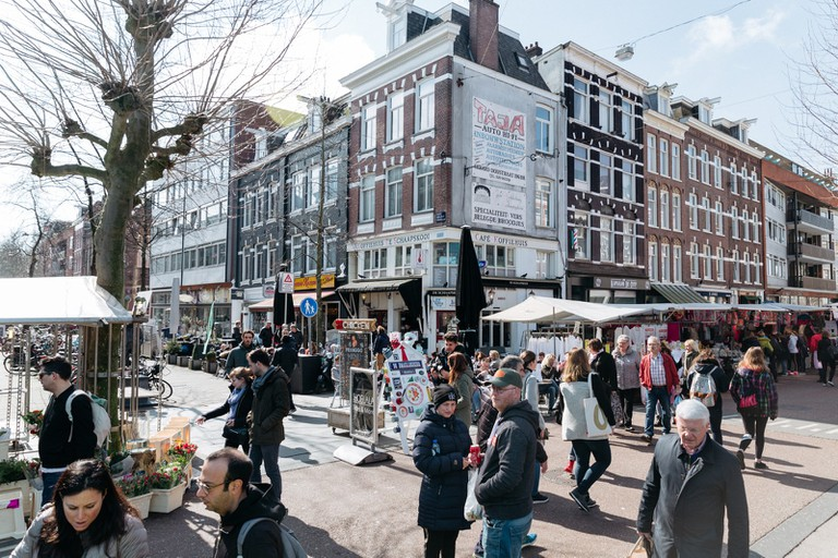 Albert Cuyp Markt attracts hundreds of visitors every day
