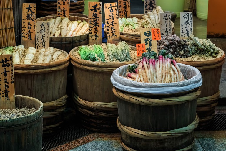 Feast on pickles and other healthy snacks in Kyoto