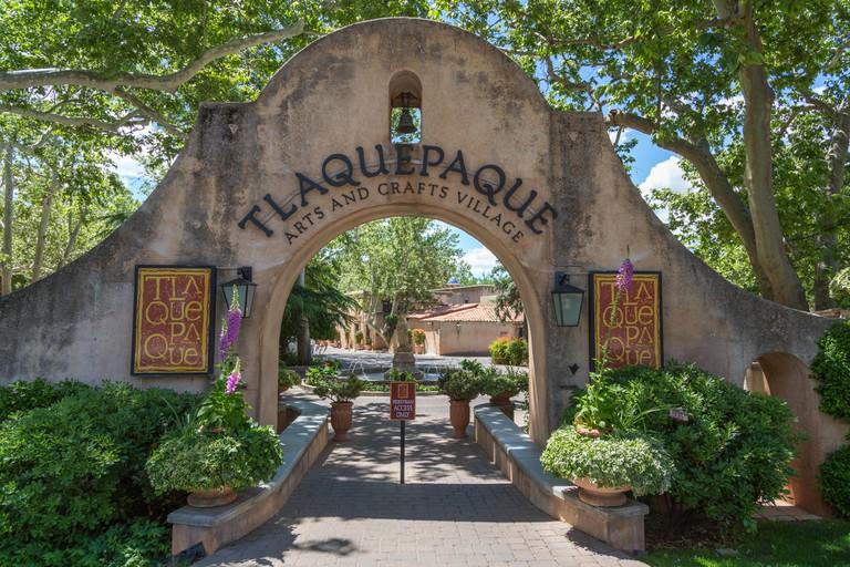 Entrance arch of Tlaquepaque Arts and Crafts Village, Sedona, Arizona