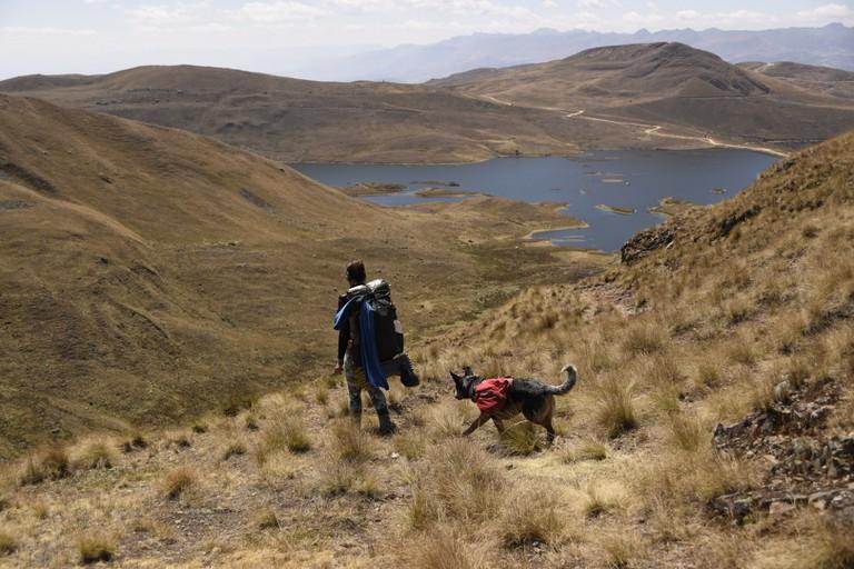 Laguna Cushuro in Peru, altitude 4000m