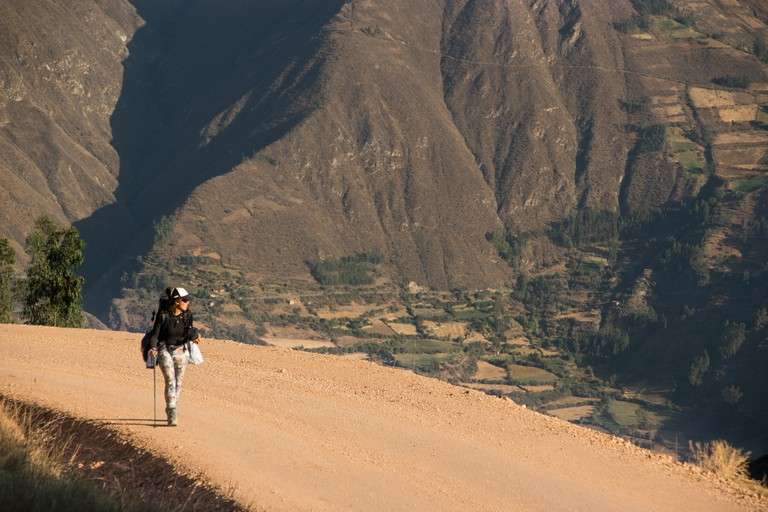 Approaching Mollebamba Peru