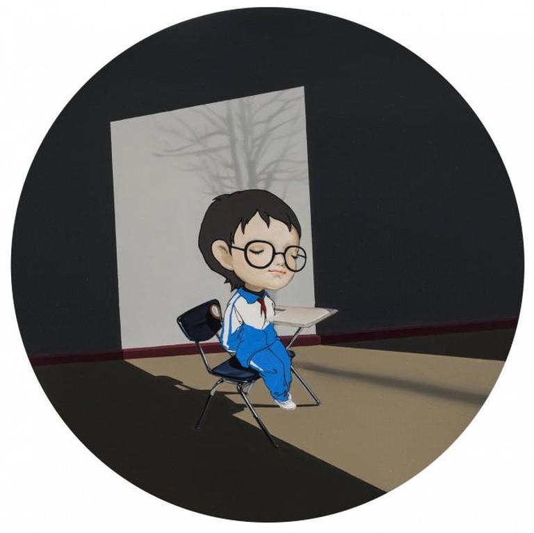 Han Yajuan Free Grade Zone, 2014 40cm diameter, oil on canvas | Image courtesy of the artist