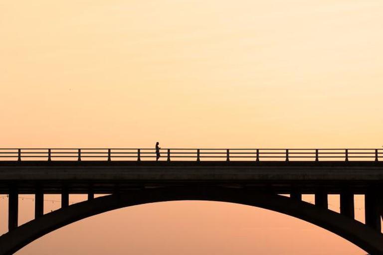 Waiting on Congress Avenue Bridge, Austin, Texas © Dave Wilson