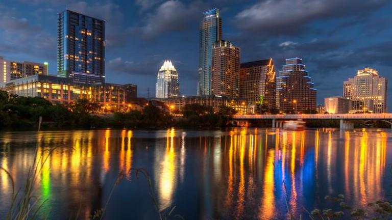 Skyline of Austin at dusk © Dave Wilson