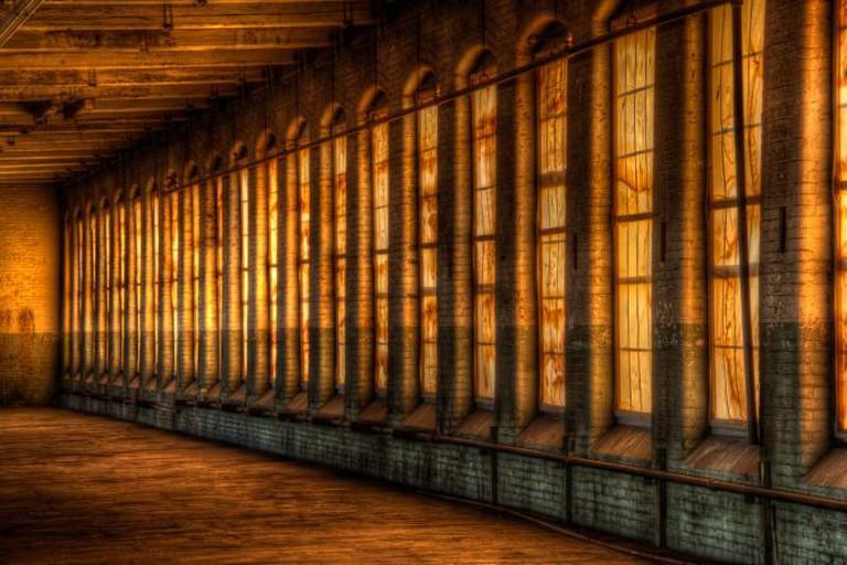 Interior of Everett Mill in Lawrence, Massachusetts © Dave Wilson