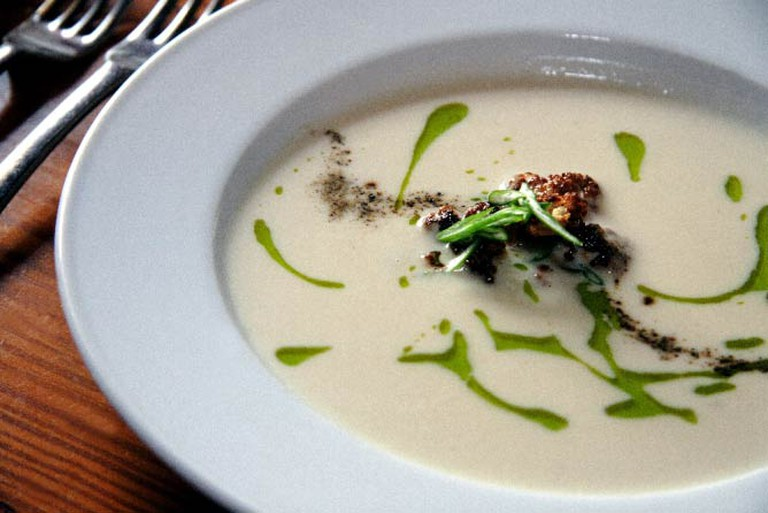 Roasted Cauliflower Puree   © In House Photography and Dave Hermann