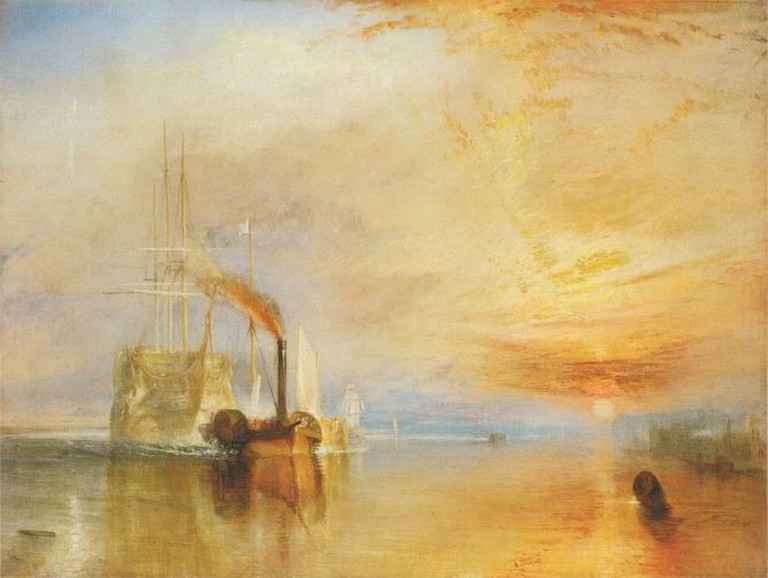 The Fighting Temeraire tugged to her last Berth to be broken up, J.W Turner