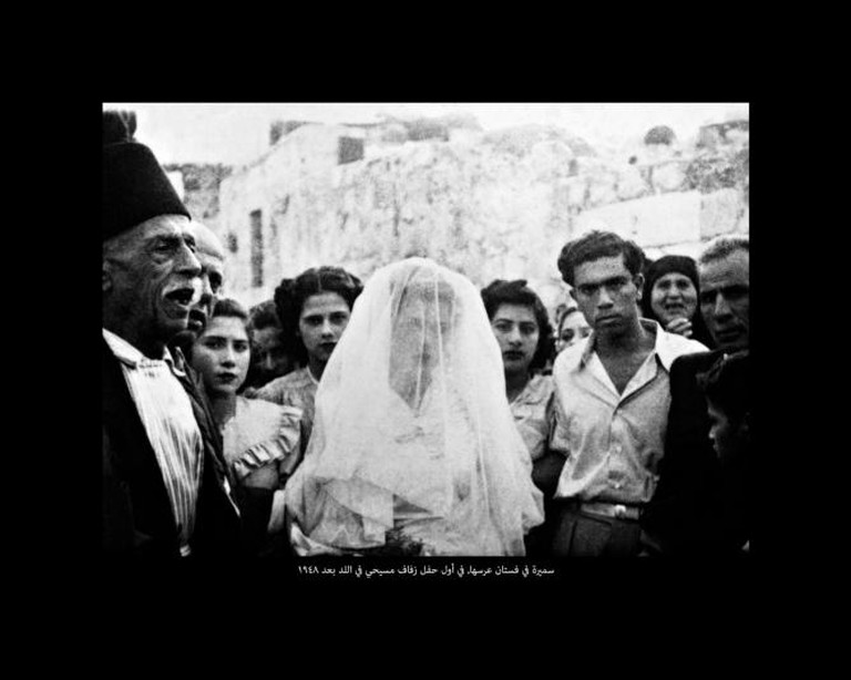 Samira in her wedding gown, the first Christian wedding in Lod, Scanograms #1, 2010 by Dor Guez