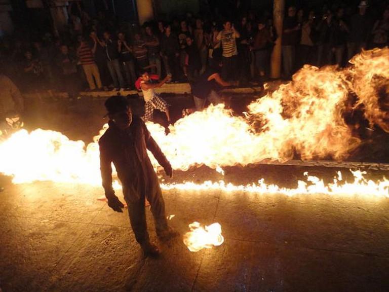 Festival de bolas Fuego, Nejapa | © Elmer Guevara/WikiCommons